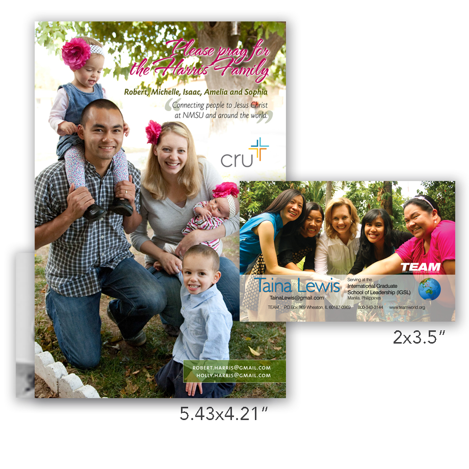 Quick Photo Prints | Missionary Prayer Cards