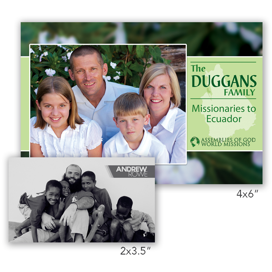 Missionary Prayer Cards | Printing and Graphic Design for Missionaries